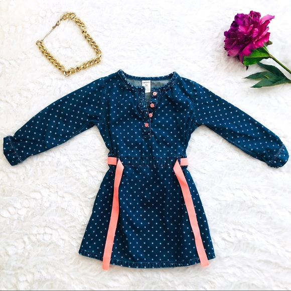 Carter's Other - Carter's Chambray Polka Dot Dress